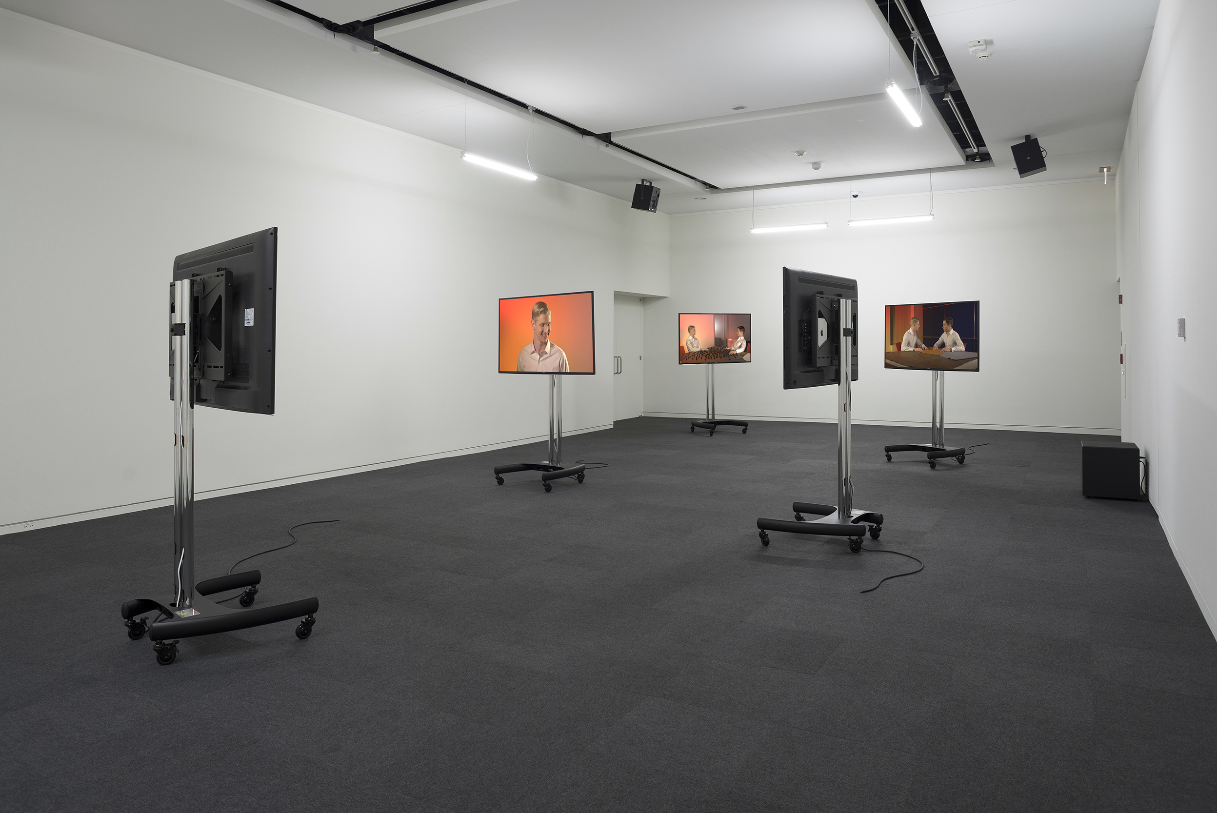 installation view of drama by Geof Oppenheimer 2014